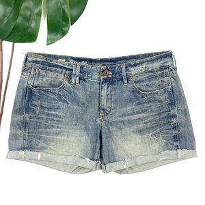 Madewell Distressed Cutoff Denim Jean Shorts 28